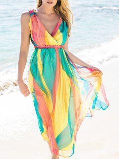 High Waisted Maxi Sundress - S