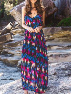 Abstract Printed Camisole Maxi Dress - M