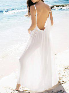 Chic Backless Blanc Maxi Dress Willow - Blanc S