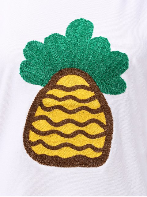 new Pineapple Embroidered T-Shirt - WHITE S Mobile