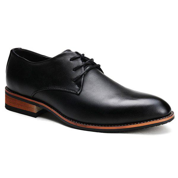 Retro Solid Color and Lace-Up Design Formal Shoes For Men 183346018