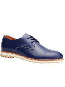 أزياء جلد و بو الجلود تصميم أحذية رسمية للرجال - أزرق 40