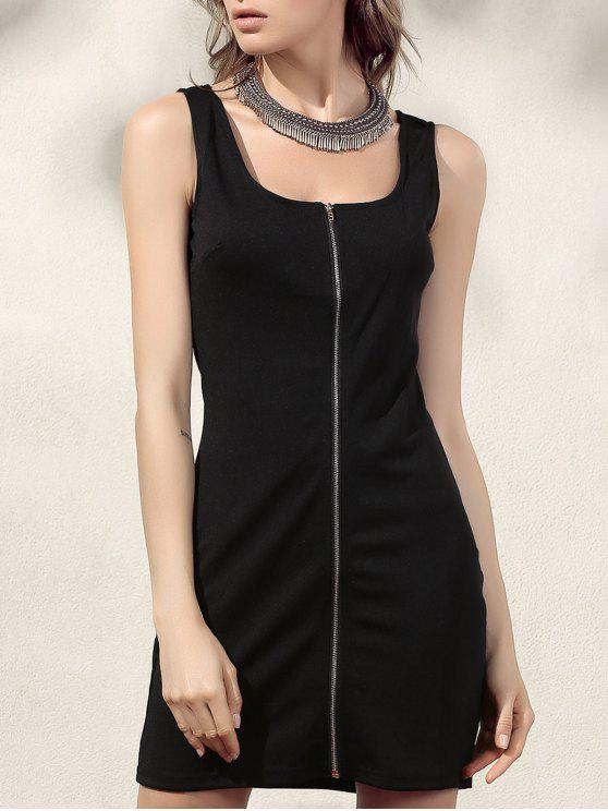 shops Bodycon Zip Dress - BLACK XL