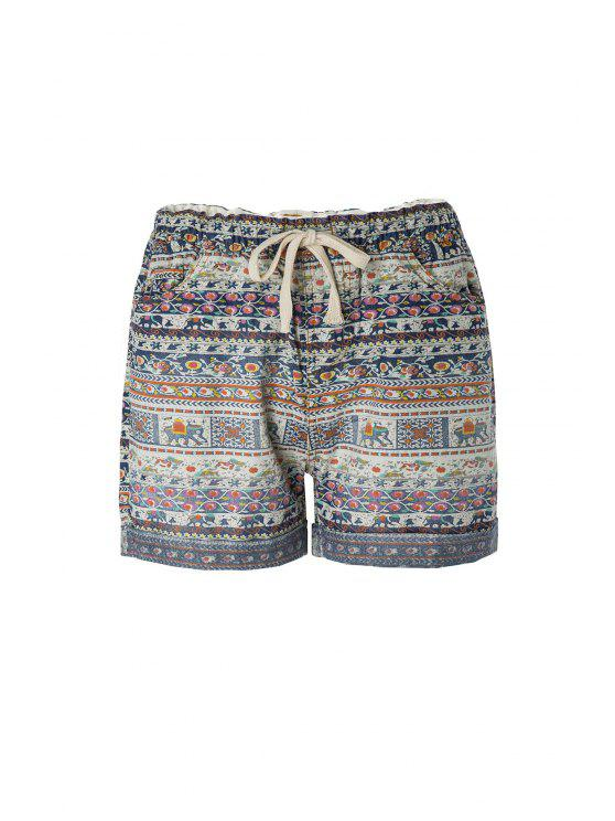 fashion Tiny Floral Elephant Print Shorts - COLORMIX ONE SIZE(FIT SIZE XS TO M)