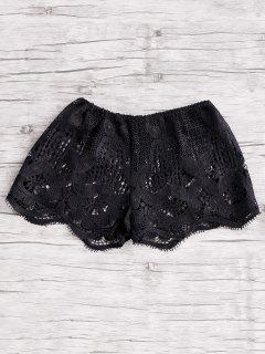 Beach Mini Pantalones Cortos De Encaje - Negro S