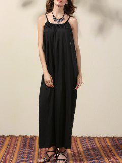 Goutte Emmanchure Maxi Dress - Noir Xl
