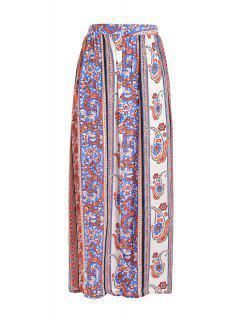 Vintage Print High Waisted Maxi Skirt - Jacinth S