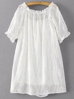 Vestir De Manga Corta Blanca Hueco Y Cami Vestido De Twinset - Blanco S