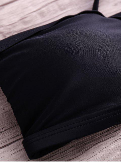 shops Hollow Strapless Bikini Set - BLACK M Mobile