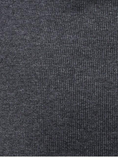 Side Slit Robe moulante - Gris Foncé L Mobile