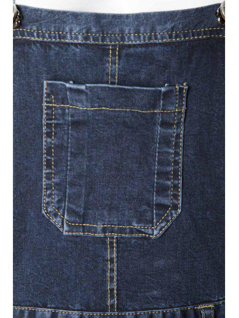 latest Blue Black Denim Dungarees - DEEP BLUE S Mobile