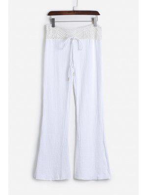 Pantalones De Encaje Blanco - Blanco - Blanco L