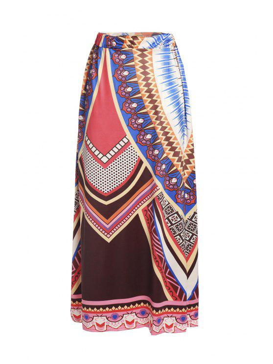 outfit Printed Loose Fitting Maxi Skirt - COLORMIX XL