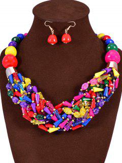 Colorful Jane Stone Statement Necklace And Earrings