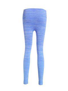 Heathered Yoga Pants - Blue L