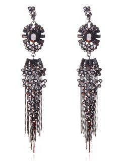 Boho Tassel Jewelry Dangle Earrings - Gun Metal
