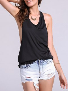 Dropped Armhole Tank Top - Black S