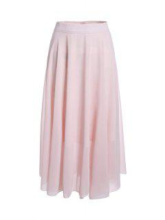 Pink A-Line High-Waisted Skirt - Pink S