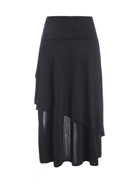 affordable Gothic Lace-Up High-Waist A-Line Skirt - BLACK XL Mobile