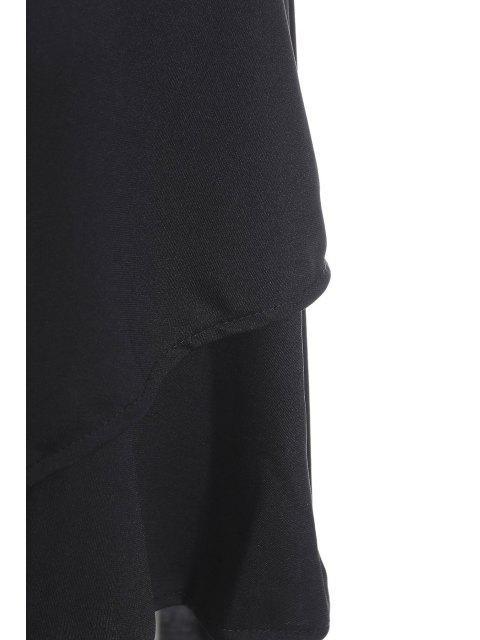 unique Gothic Lace-Up High-Waist A-Line Skirt - BLACK M Mobile