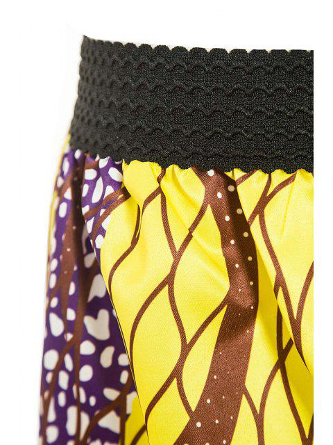 women's Retro Print Ball Gown Women's Skirt - GOLDEN XL Mobile
