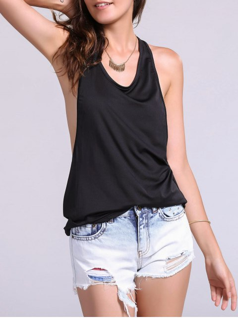 unique Dropped Armhole Tank Top -   Mobile