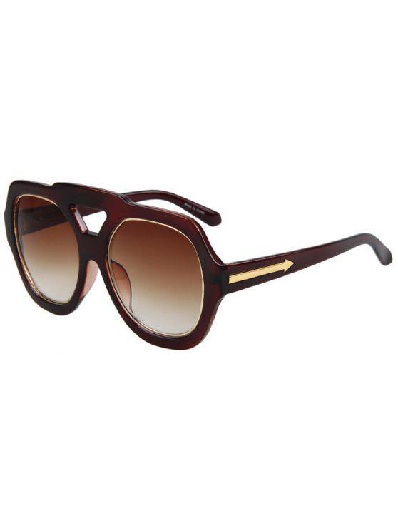 affordable Arrow Double Rim Sunglasses - TEA-COLORED