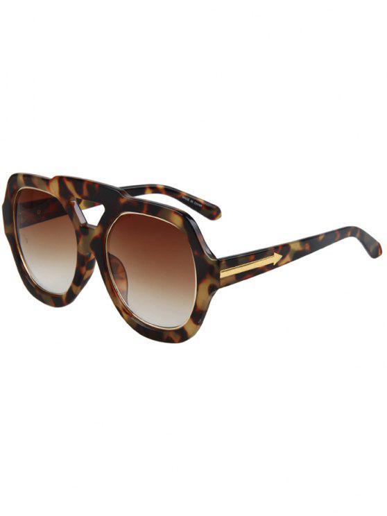 women Arrow Double Rim Hazy Fleck Sunglasses - BROWN