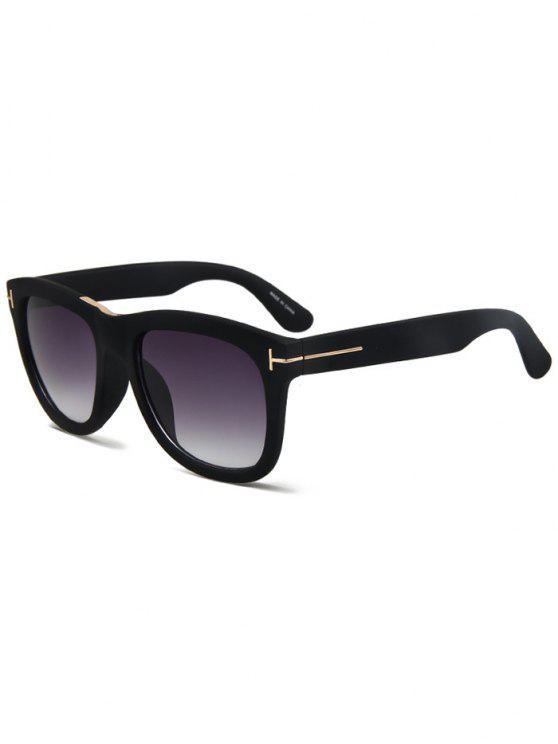 women's Letter T Matte Black Square Sunglasses - BLACK
