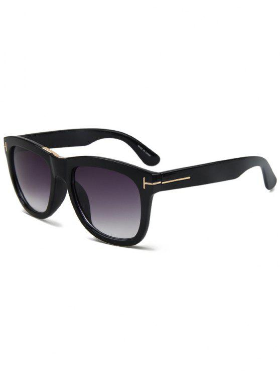 decef4b198c 24% OFF  2019 Letter T Bright Black Square Sunglasses In BLACK