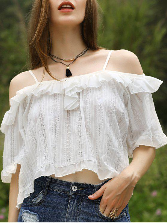 women Lace Patchwork White Top - WHITE ONE SIZE(FIT SIZE XS TO M)