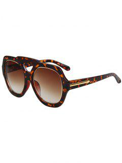 Arrow Double Rim Leopard Sunglasses - Brown