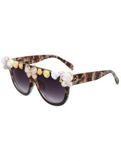 Flowers Butterfly Camo Match Sunglasses - Black