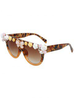 Flowers Butterfly Camo Match Sunglasses - Light Brown