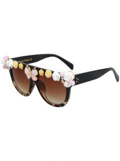 Flowers Butterfly Fleck Match Sunglasses - Black