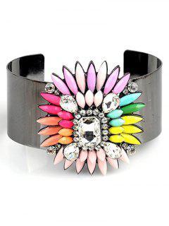 Bohemian Flower Jewelry Cuff Bracelet - Pink
