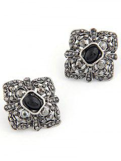 Punk Quadrate Jewelry Earrings - Black