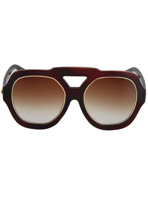 affordable Arrow Double Rim Sunglasses - TEA-COLORED  Mobile