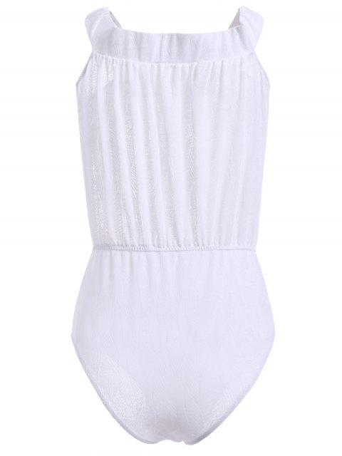 shops Off Shoulder One-Piece Swimsuit - WHITE XL Mobile