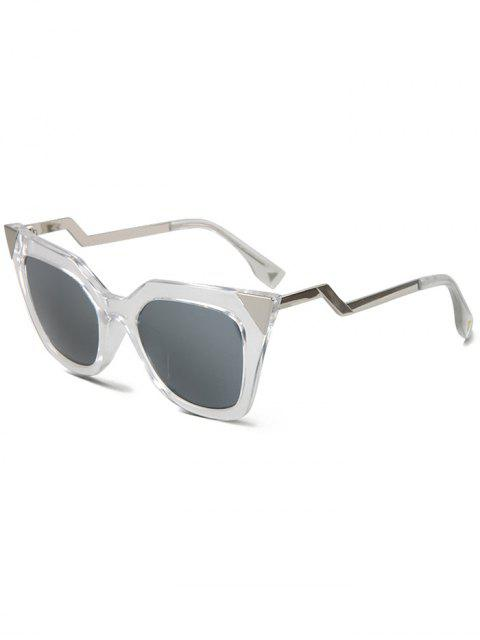 shop High Pointed Transparent Cat Eye Sunglasses - TRANSPARENT  Mobile