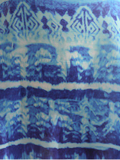 Robe à col U imprimé à motifs - Multicolore L Mobile
