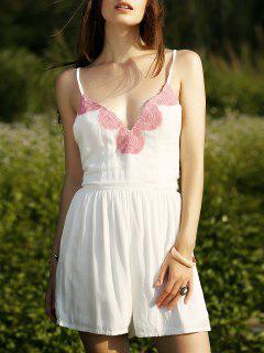 White Cami Romper - White L