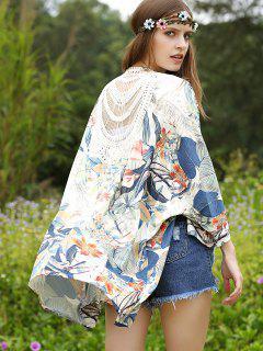 Imprimé Macramé Retour Kimono - Xl