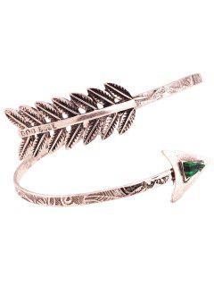 Faux Gem Cupid Arrow Bracelet - Silver