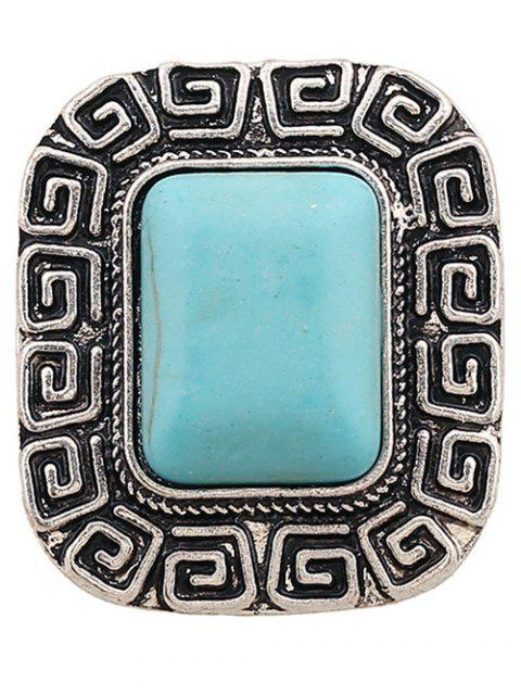 affordable Faux Turquoise Square Shape Ring -   Mobile