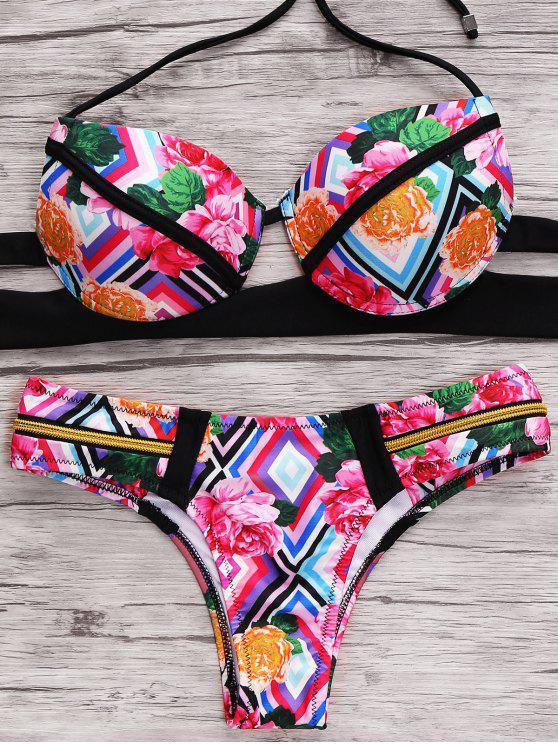 Imprimir Cami del vendaje del bikini Set - Colormix M