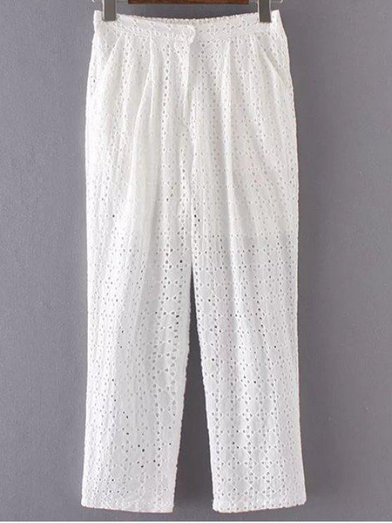 Pantalon découpé couleur pure - Blanc S