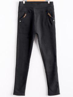 Solid Color Trousers For Women - Black