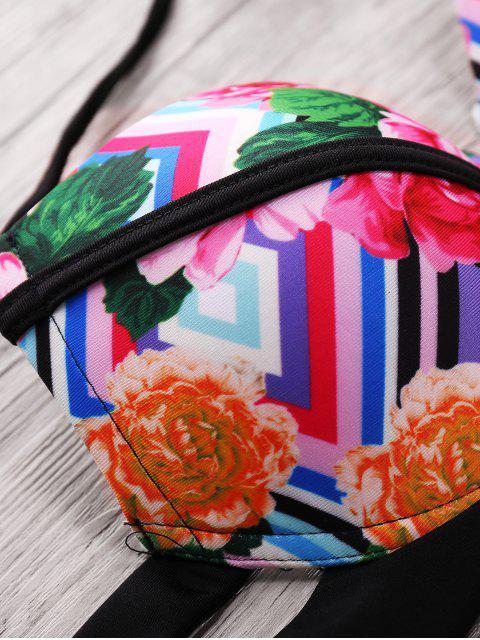buy Print Cami Bandage Bikini Set - COLORMIX L Mobile