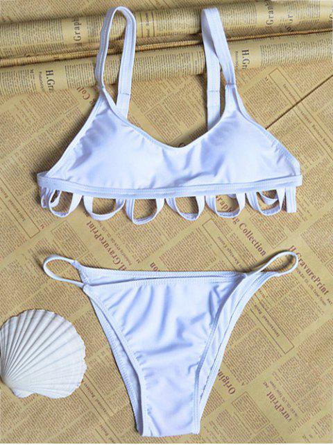 Cami blanco hueco Set Bikini - Blanco L Mobile